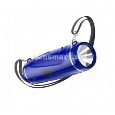 Колонка портативная + фонарь Borofone BR7 синяя